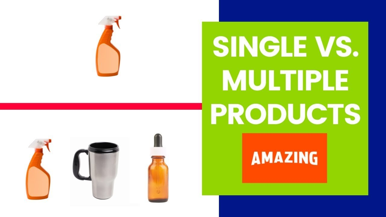 featured image:single vs multiple products on amazon fba