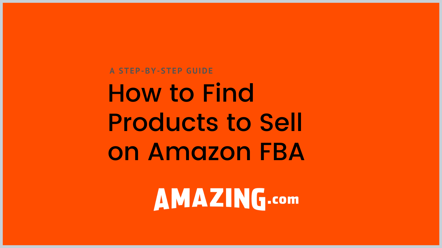 featured image: how to find products to sell on amazon fba